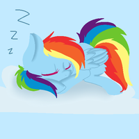 Sleepy Rainbow Dash (finished) by chibimlp-lover
