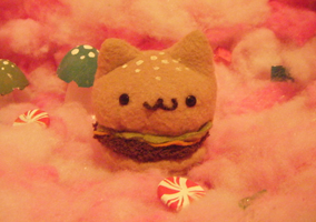 Cat Burger Plush by BaileyNickerson