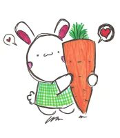 Bunny and Carrot by Kornasaur