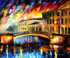 RIVER  - Oil Painting On Canvas by Leonidafremov