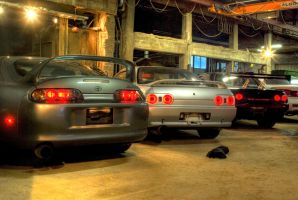 Supra with two Skylines by Olar