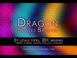 Zummerfish's dragon scales brushes by zummerfish