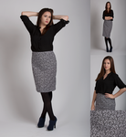 Treble Clef Print Pencil Skirt by SewItSeamsCute