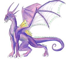 Violet Dragon colored by Dracohoudini