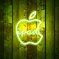 ipad Wallpaper - Apple Neon by LaggyDogg