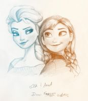 Frozen: Elsa and Anna by Saber-Cow