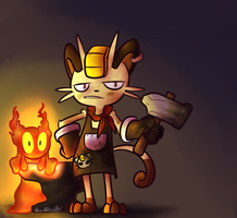 Forge the Meowth Likes to Forge Things by Wonder-Waffle
