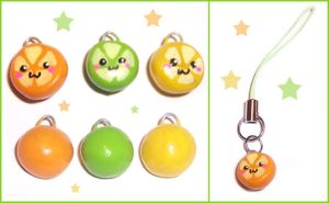 Citrus Fruit Charms by bapity88