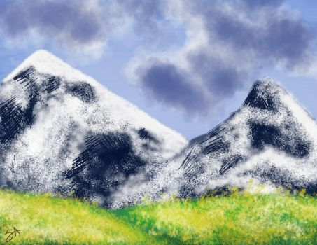 Mountain Speedpaint by Strange-Argument