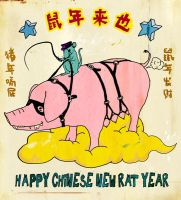 happy chinese new rat year by lobster-street