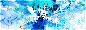 Cirno Banner by King-of-Bandits