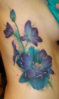 Purple Flowers by Dripe