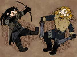 Fili and Kili by coeforoi