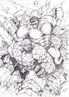 THE HULK vs. THE THING by Badong09