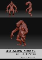 3D Model - Alien in Zbrush 3 by mhofever