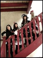 Girls and Stairway.. by kaizer-verde
