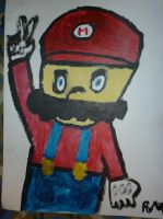 Old Mario Painting by MarioMario54321