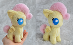 Tiny baby Fluttershy plush by PinkuArt