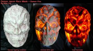 Demon Fire Jason Mask by Uratz-Studios