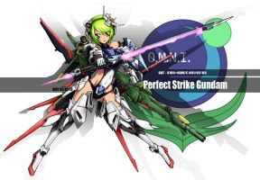 perfect strike gundam mecha musume by wdy1000