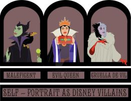 Selfportrait as DisneyVillians by LaTaupinette