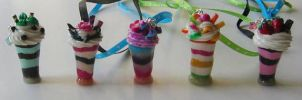 Pretty Parfaits all in a Row by MandaBeads