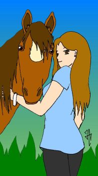 She and her Horse by HudsAri