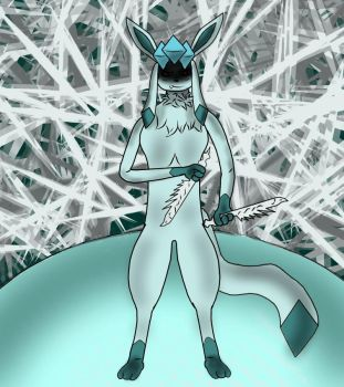 Spencer the glaceon by T-H-E-GUY