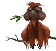 DAY 423. Orangutan by Cryptid-Creations