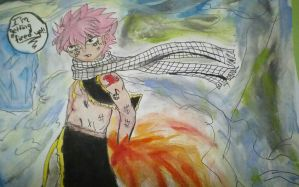 Fairy Tail- Natsu Dragoneel (colored) by TheAwesome-Artist