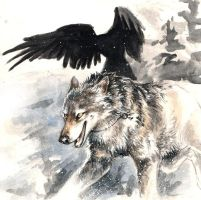 Running Graywolf by kenket