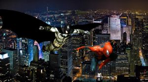DC and Marvel: Batman and Spider-Man by stick-man-11