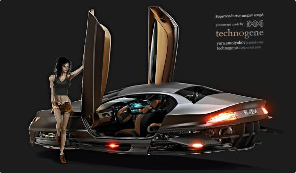 Superconductor maglev coupe 2 by technogene