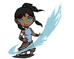 Korra from Avatar in TWW style | POINTS COMMISSION by MajorasMasks