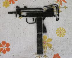 Mac 10 Stencil by z3nk1ll3r