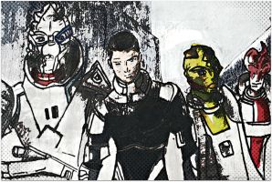 The Normandy Crew by SusArts