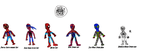 Portal Earth Costom Spidey Suits by skysoul25