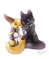 CO- Chibi Couple by KylieKattu