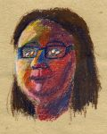 Expressive Self portrait: Oil pastels by Cpr-Covet