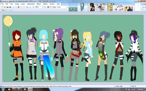 Naruto Female OC's WIP by alexpc901