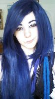 Blue Wi... hair all my own hair by Zellfails
