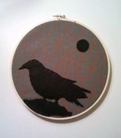 Nevermore Embroidery Hoop by msmegas