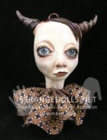 Horned Christmas Ornament 2008 by strangedolls