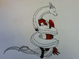 Anna and Tom: Gryphon and Eastern by DragonThunderstorm