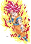 Dragonball Z - Super Sayan GOD!!! by TriiGuN