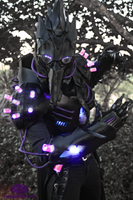 The Black Plague dark futuristic Light up costume by TwoHornsUnited