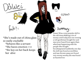 NEW CP: Dawei The cracked doll by Rupaint-x
