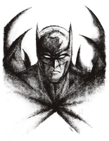 Batman Dark Knight and his terrible Rubber Stamps by Fraffrog