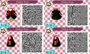 Shadow dress qr codes by AishlingChan