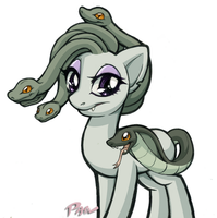 Medusa Pony by Pain-hyena